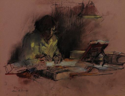 Hans Bayens: Proust-Übersetzerin Thérèse Cornips, Pastell